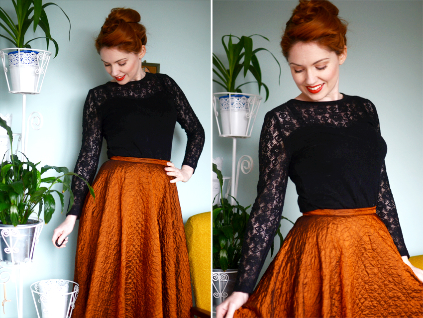 copper skirt lace
