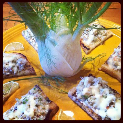 Crab Toast with Lemon Aioli - sarah