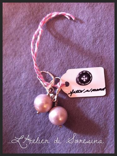 Orecchini con perle d'acqua dolce (Nr.182) by L'Atelier di Soresina