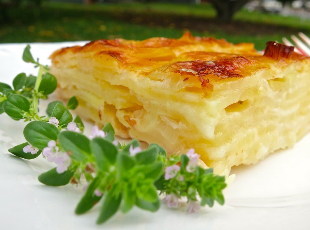 Potato Gratin slice