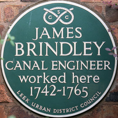 Photo of James Brindley green plaque