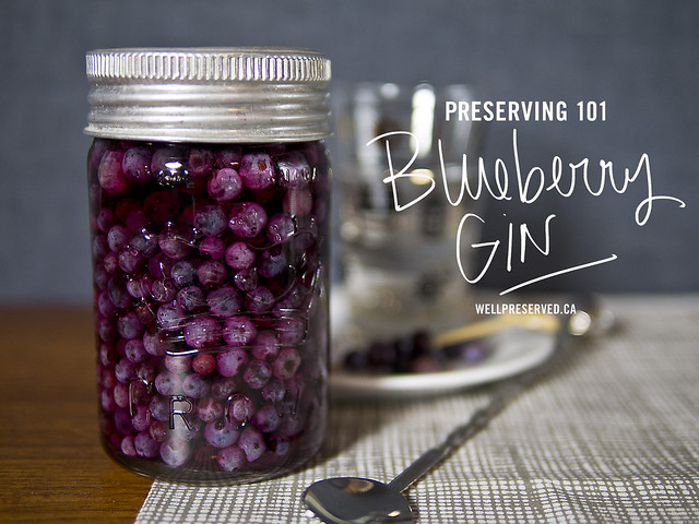 Blueberry Gin   Intro to Preserving (Infusing) October gin Easy Preserves Blueberry