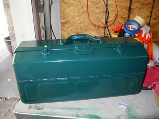 Old cantilevered tool box after paint rebuild