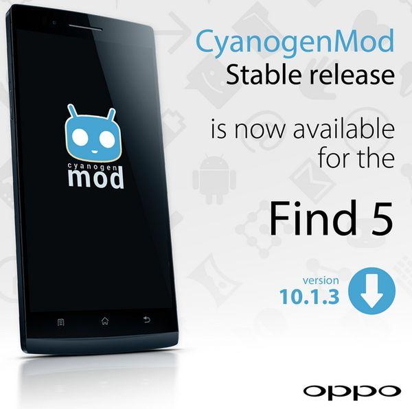 CyanogenMod для Oppo Find 5