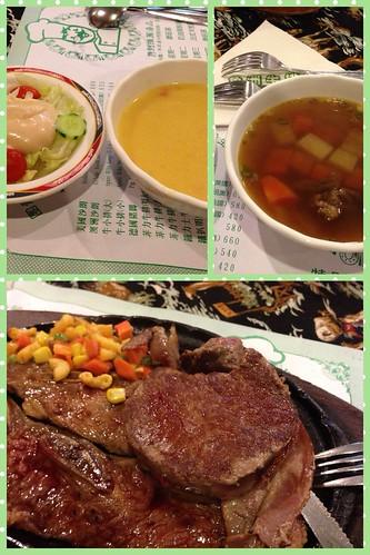 30歲的生日大餐:角洲牛排!圈著培根煎的沙朗牛排加上口感極佳的牛小排,感謝老公大人招待!