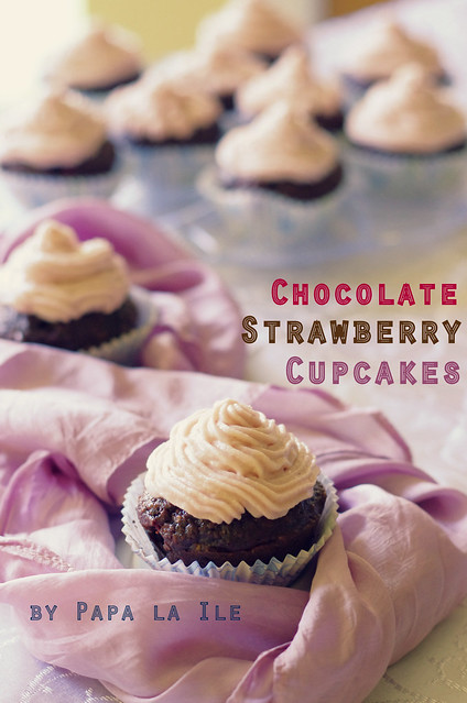 Chocolate strawberry cupcakes (8)