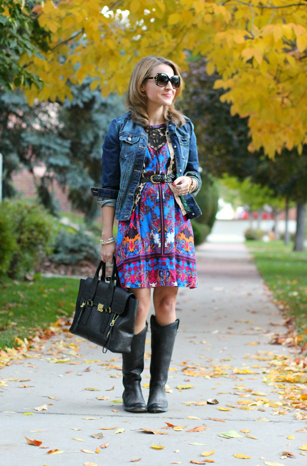 Restyling a summer dress for fall
