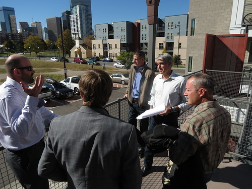 Udall Tours the Denver Housing Authority's Benedict Park Place, Reviews the Building's Geothermal Energy System