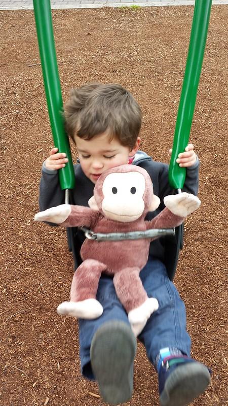 Eskil and Monkey Swinging