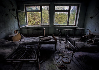 An empty hospital room