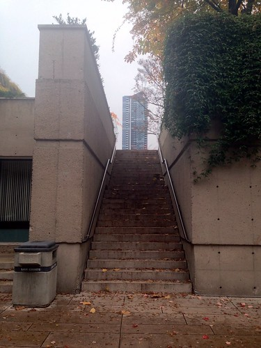 Steps leading up to Robson Square from Howe Street