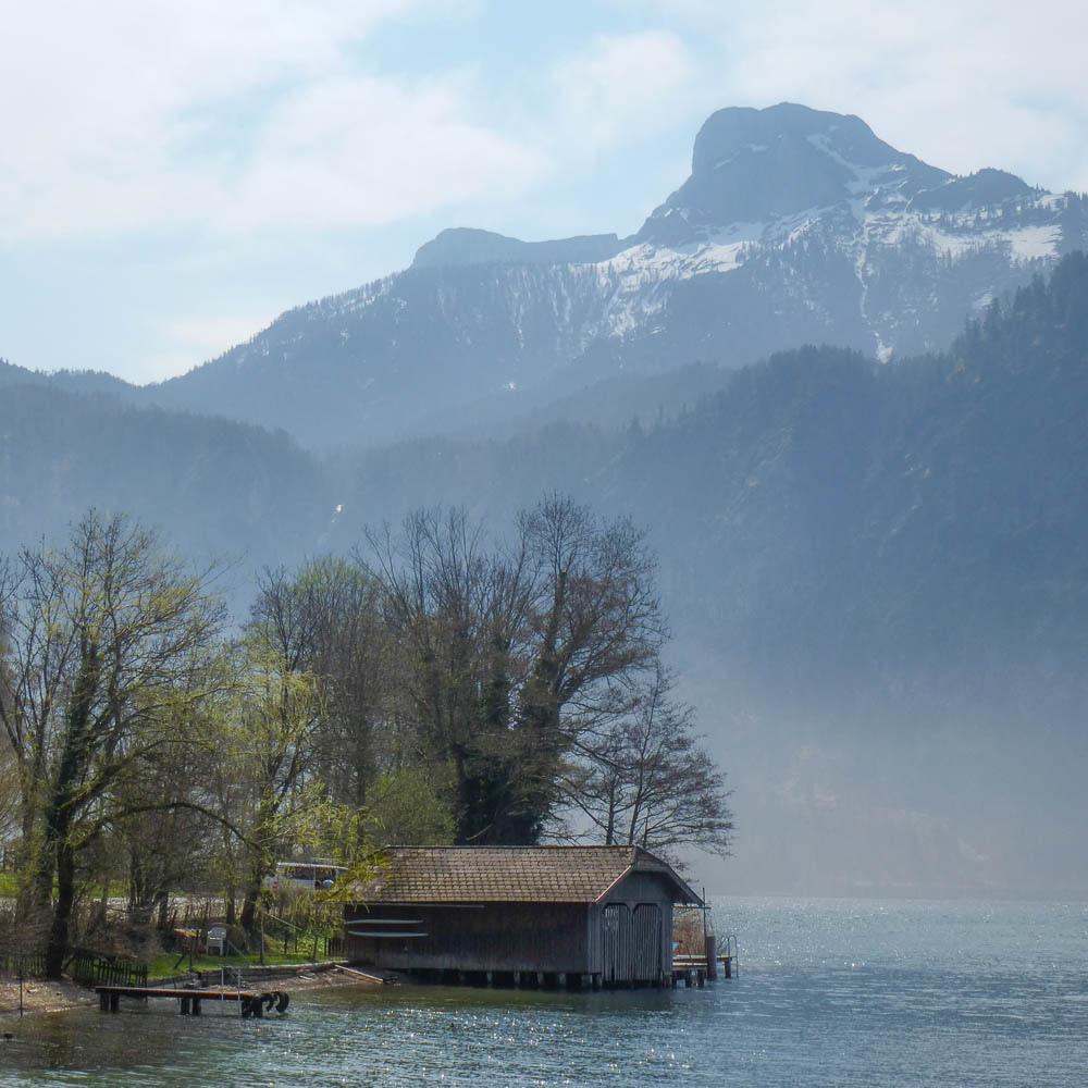 23. Bello embarcadero en Mondsee. Autor, Markus