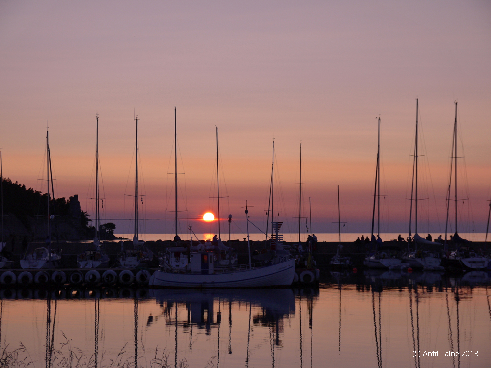 Sunset in Lickershamn