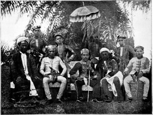 蘇祿蘇丹與隨從,1899年