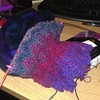 My evening, a Noro herringbone lace scarf and some merino fiber to spin. #knitting #knitstagram #fiber #noro #lace