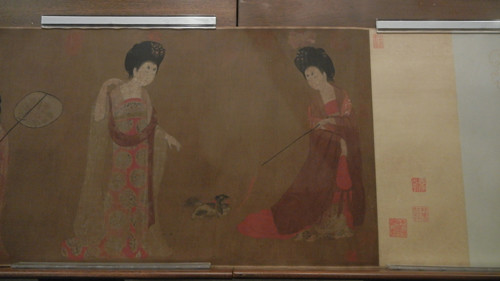 DSCN6226 _ Court Ladies Adorning Their Hair with Flowers (detail 1), Fang ZHOU, 46x180cm, Liaoning Museum, Shenyang, China