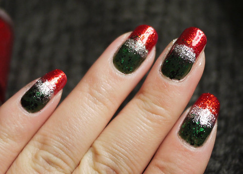 Holiday Nails Red Green Somewhere In Between