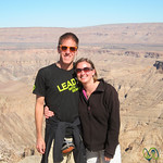 Dan and Audrey at Fish River Canyon - Namibia