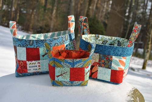 Basket of Charm pattern by Sweet Jane, Family Tree fabric by Deb Strain for Moda