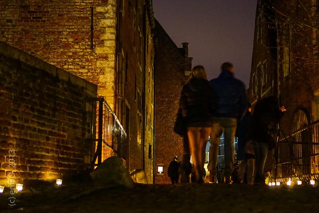 Groot Begijnhof bij kaarslicht Leuven 2013