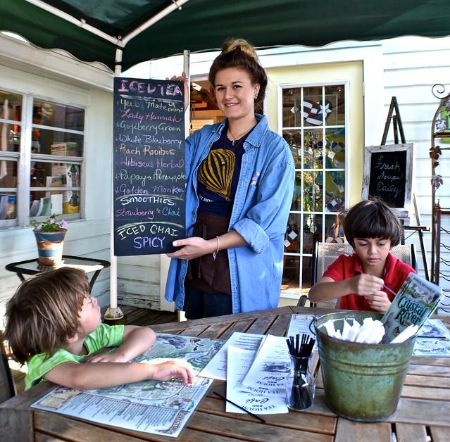ice tea menu, teahouse 650, heritage village