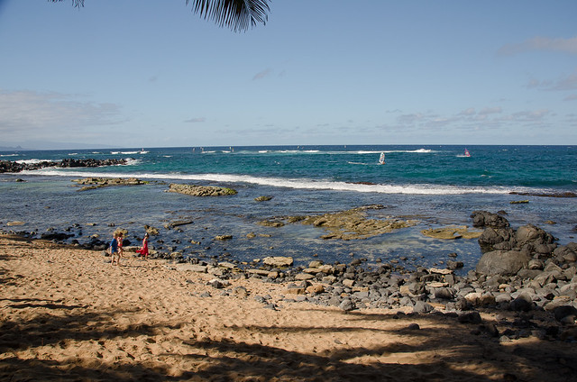 Beach at Mama's Fish House, Maui