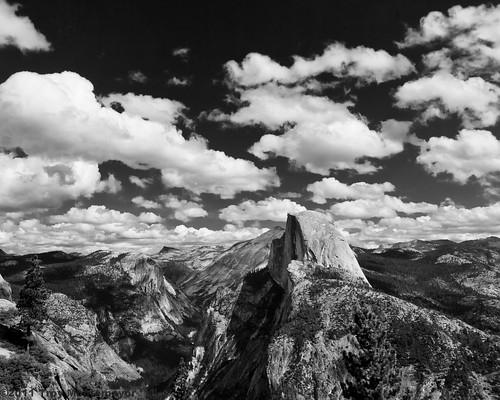 Cumulus Clouds and Half Dome, Yosemite National Park