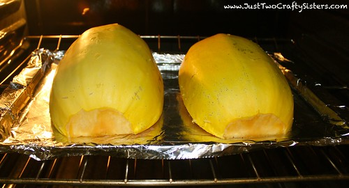 Cooking spaghetti squash in the oven