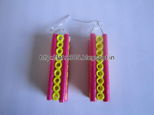 Handmade Jewelry - Paper Quilling Bar Earrings (2) by fah2305