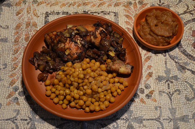 Parthian Chicken & Chickpeas accompanied with Date Paste