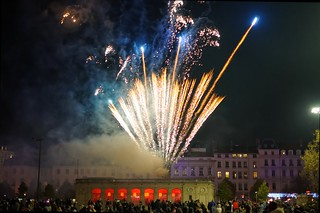 Feu d'artifice sur Bellecour
