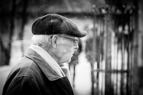 Man with hat by Davide Restivo