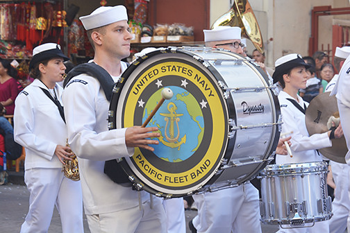 bass drum Pacific Fleet Band