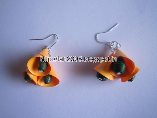 Handmade Jewelry - Paper Cone Bell Earrings (18) by fah2305