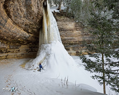 Frozen Munising Falls Upper Michigan by Michigan Nut