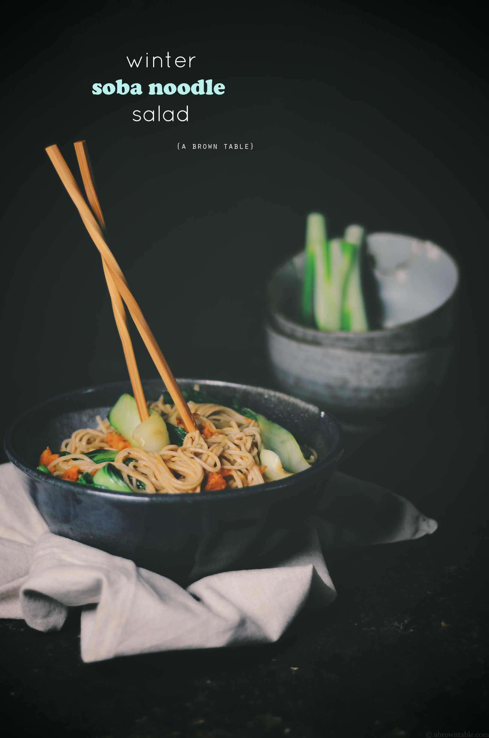 winter soba noodle salad