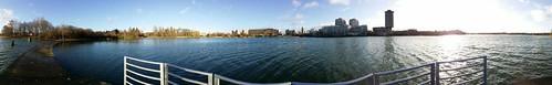 Panoramique du lac de Créteil 20140209_095236