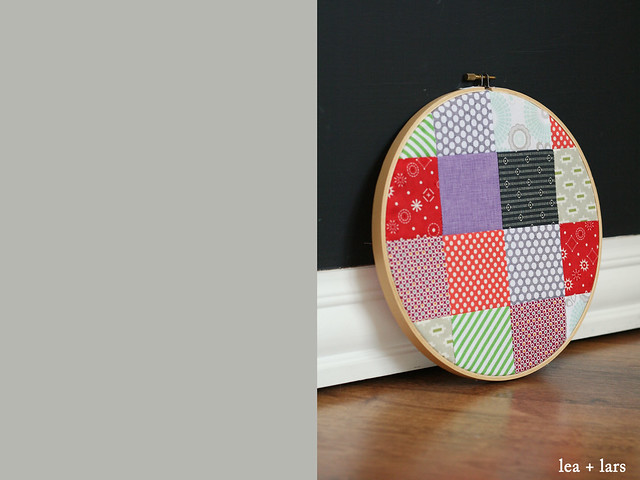embroidery hoop patchwork