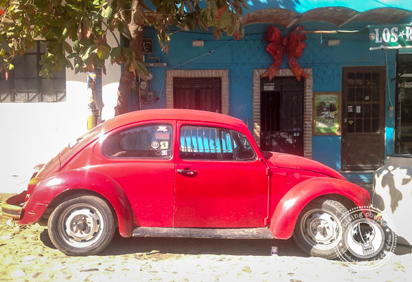 How to Travel Mexico in Style - Mexican Vocho Red
