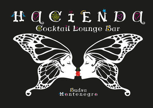Logo-Hacienda, Cocktail Lounge Bar, Budva, Montenegro by sandra.d.
