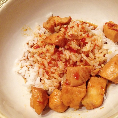 My second week of meal planning, tonight I made Bourbon Chicken with white rice. The kids always gobble this up, it is one of their favorite meals I make. Link to recipe and to the rest of my eats for the week in my profile or curlycraftymom.com