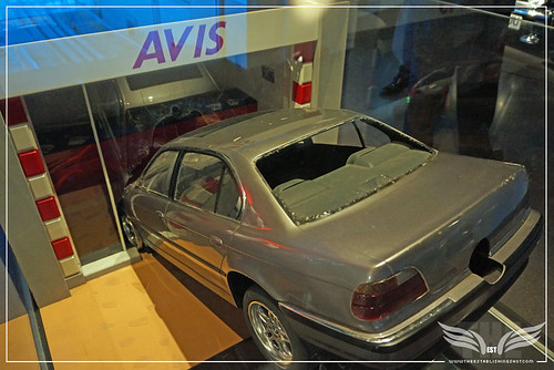 The Establishing Shot BOND IN MOTION - BMW 750 IL MODEL CRASH FROM TOMORROW NEVER DIES @ LONDON FILM MUSEUM COVENT GARDEN by Craig Grobler