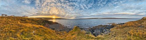 road morning blue red panorama orange sun green rot yellow sunrise island gold iceland nikon day glow cloudy pano ring route gelb gras grün blau morgen hdr d800 hrútafjörður saeberg ringstrase