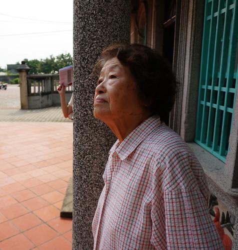 羅家古厝的羅老太太看著古厝