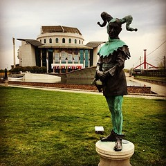 #budapest #arts #art #statue #joker #building #architecture
