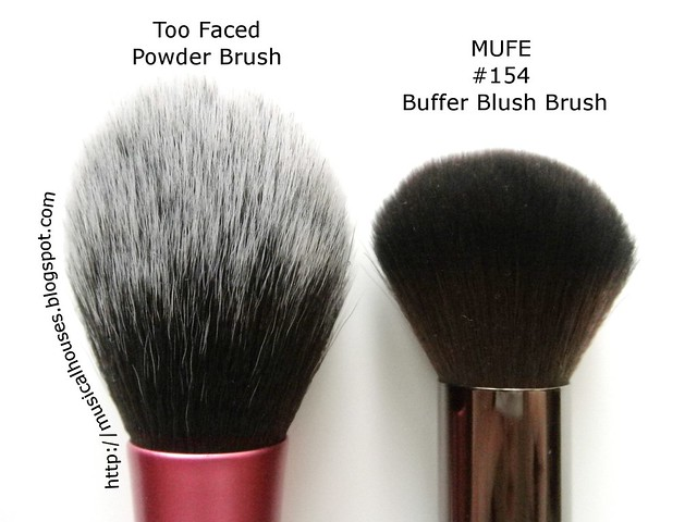 MUFE Buffer Blush Brush Real Techniques Blush Brush