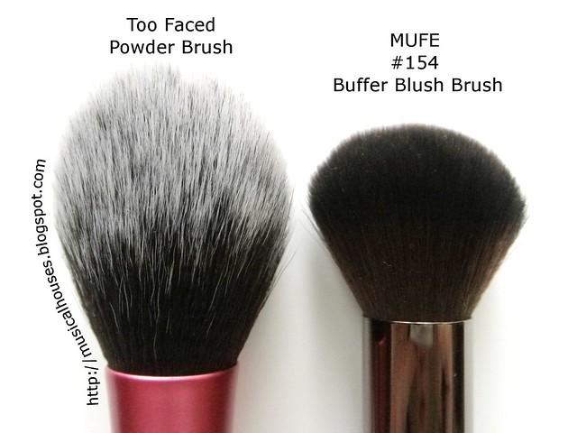 MUFE Buffer Blush Brush Real Techniques Blush Brush