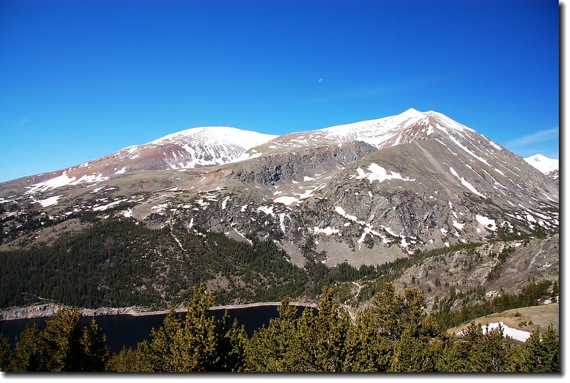 Mt. Bross (on left) and Lincoln (on right).