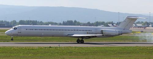 Swiftair McDonnell Douglas MD-83 EC-LTV Arrival OSL