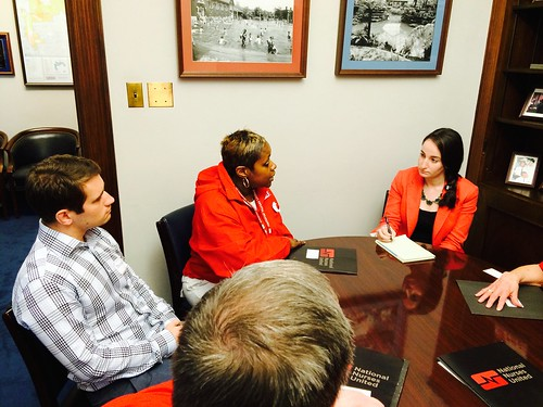 RN Kim Anderson of Chicago and a team of Illinois nurses urged staff for Rep. Mike Quigley (D-IL) to support Medicare for All.